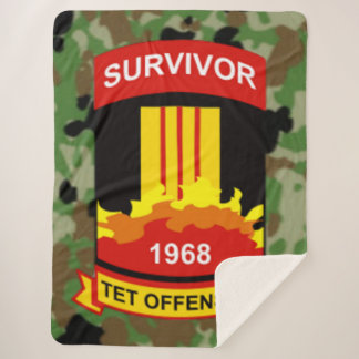 TET OFFENSIVE 1968 SURVIVOR SHERPA BLANKET