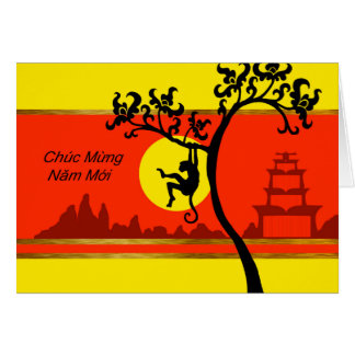 Tet, Vietnamese Lunar New Year of the Monkey Greeting Card