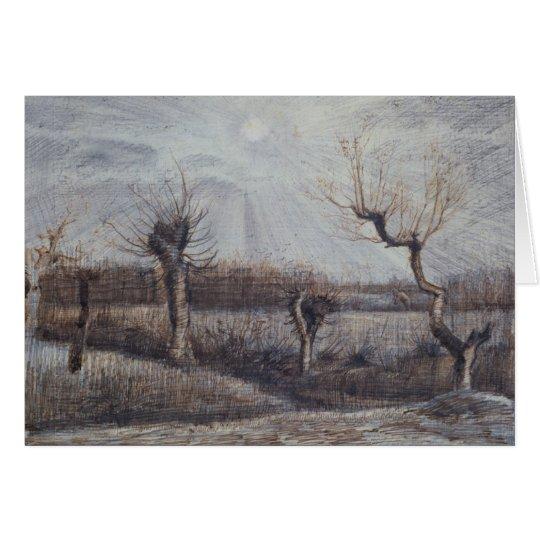 Tetards (Pollards) Van Gogh Fine Art Drawing Card