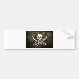 Tête de mort pirate bumper sticker