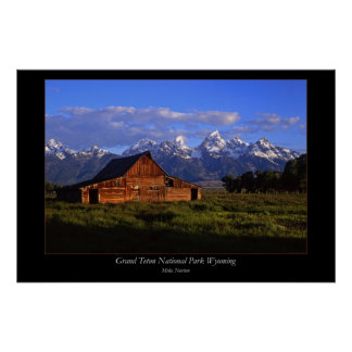 Teton Barn #1 Poster