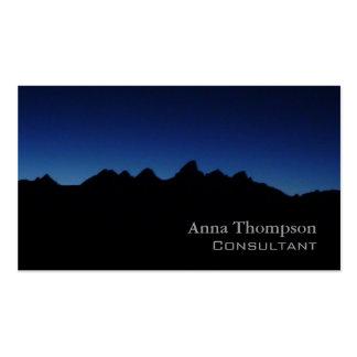 Teton blue business card