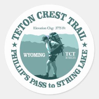 Teton Crest Trail (rd) Classic Round Sticker