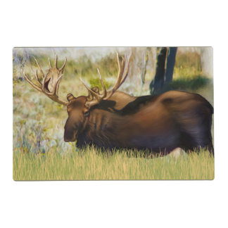 Teton King Moose Bull Laminated Place Mat