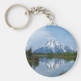 Teton Mountain Reflections Key Ring