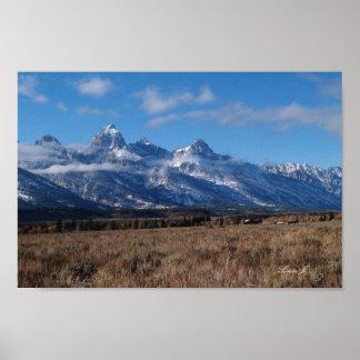 Teton Mountains in Western USA Canvas Print