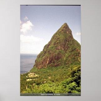 Teton mountains, St. Lucia Poster