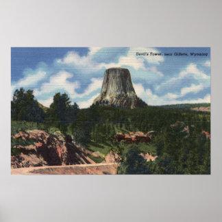 Teton National Park, WY - Devil's Tower near Print