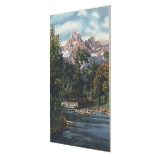 Teton National Park, WY - Twin Peaks View Gallery Wrap Canvas