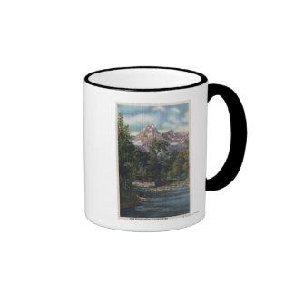 Teton National Park, WY - Twin Peaks View Coffee Mugs