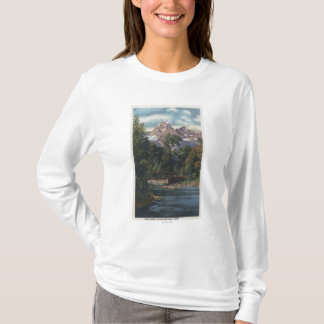 Teton National Park, WY - Twin Peaks View T-Shirt