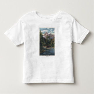Teton National Park, WY - Twin Peaks View Toddler T-Shirt