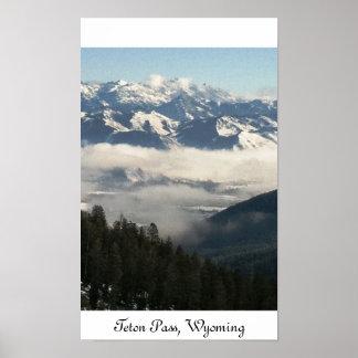 Teton Pass, Wyoming Poster