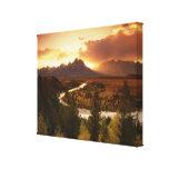 Teton Range at sunset, from Snake River Canvas Prints