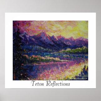 Teton Reflections Poster