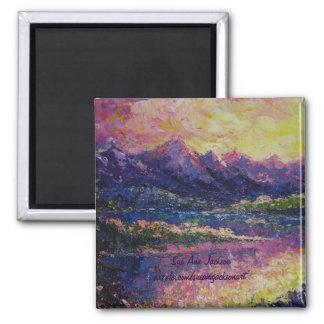 Teton Reflections Square Magnet