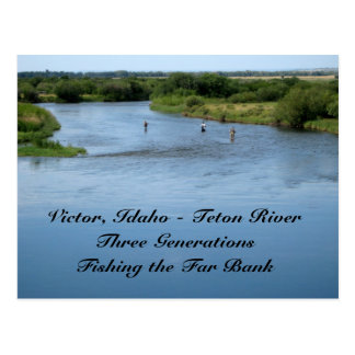 Teton River, Idaho Postcard