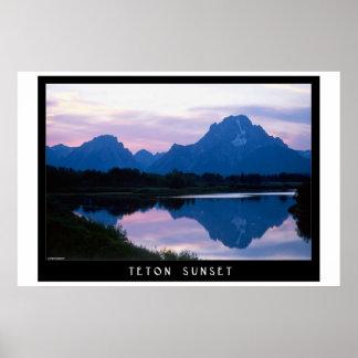 Teton Sunset Poster