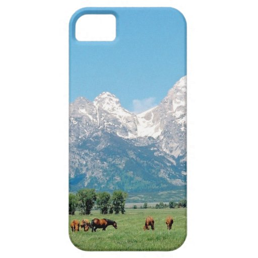 Tetons and Horses iPhone 5 Case