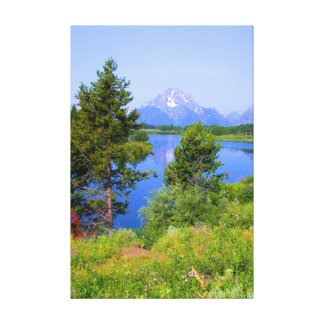 Tetons in Summer Stretched Canvas Print