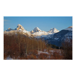 Tetons in Winter Posters