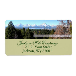Tetons Shipping Label