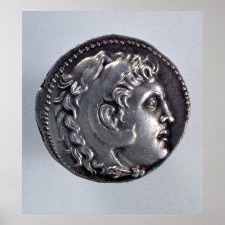 Tetradrachma depicting Alexander the Great Poster