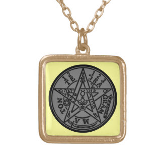 TETRAGRAMMATON GOLD PLATED NECKLACE