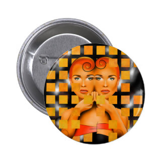 Tetrathos V1 - heart head 6 Cm Round Badge
