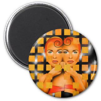 Tetrathos V1 - heart head Magnet