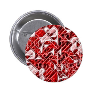 Tetris Nostalgia energetic triangle pattern 6 Cm Round Badge