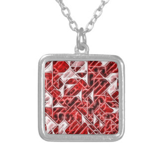 Tetris Nostalgia energetic triangle pattern Silver Plated Necklace