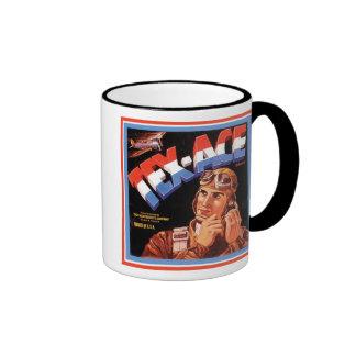 Tex Ace Vintage Crate Label - Pilot Ringer Mug