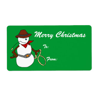 Tex - Merry Christmas Tags Shipping Label