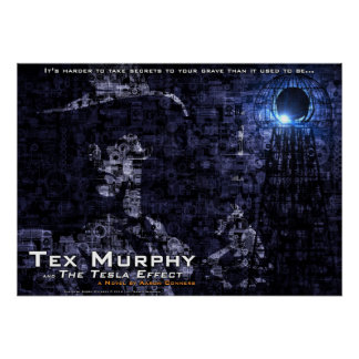 "Tex Murphy and The Tesla Effect Poster [28""x20""]"