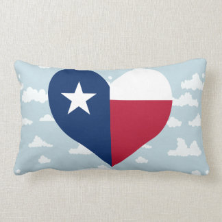Texan Flag on a cloudy background Throw Pillow