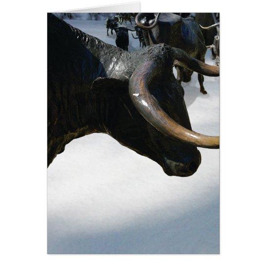 Texan Holiday Card--Texas Longhorns (Customisable) Card