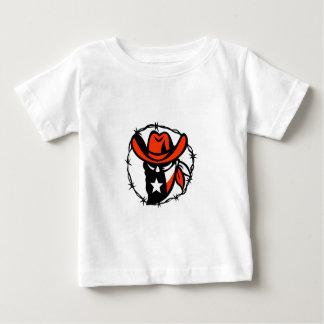 Texan Outlaw Texas Flag Barb Wire Icon Baby T-Shirt