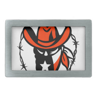 Texan Outlaw Texas Flag Barb Wire Icon Belt Buckle