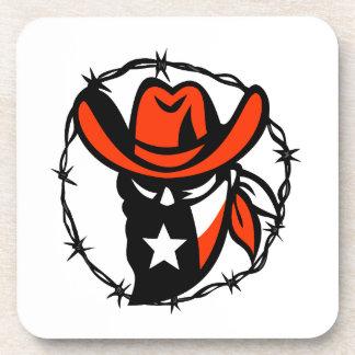 Texan Outlaw Texas Flag Barb Wire Icon Coaster