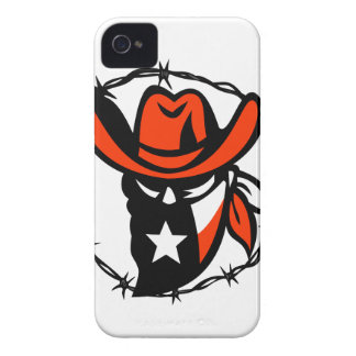 Texan Outlaw Texas Flag Barb Wire Icon iPhone 4 Cover