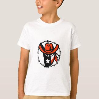 Texan Outlaw Texas Flag Barb Wire Icon T-Shirt