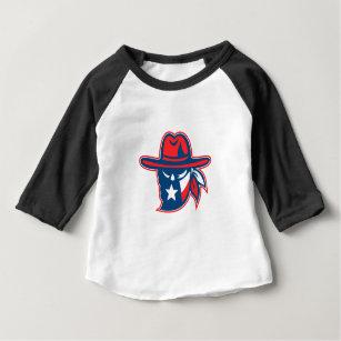 Texan Outlaw Texas Flag Mascot Baby T-Shirt
