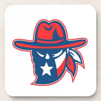 Texan Outlaw Texas Flag Mascot Coaster