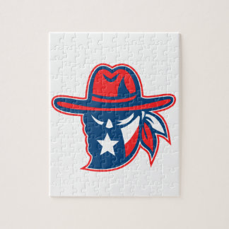 Texan Outlaw Texas Flag Mascot Jigsaw Puzzle