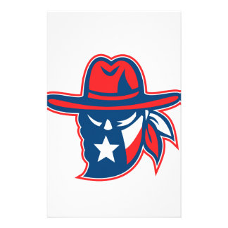 Texan Outlaw Texas Flag Mascot Stationery