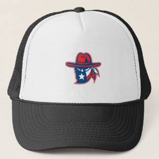 Texan Outlaw Texas Flag Mascot Trucker Hat