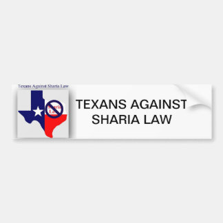 Texans Against Sharia Law Bumper Sticker