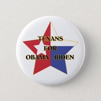 Texans for Obama-Biden 6 Cm Round Badge