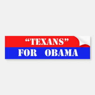 Texans for obama bumper sticker